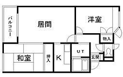 メゾンドフルール[2階]の間取り