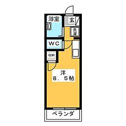 エミューヤマト[1階]の間取り