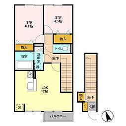 クライノモー 2[2階]の間取り