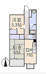 フジハイツ[3階]の間取り