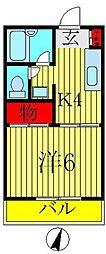 レジデンスヨシノ[107号室]の間取り