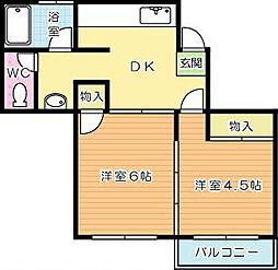 中央アパート[2階]の外観