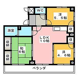 グレースマンションT[3階]の間取り