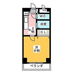 パル松ヶ枝[8階]の間取り
