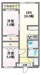 HERBE(エルブ)新大阪[3階]の間取り