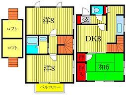 [テラスハウス] 千葉県柏市北柏4丁目 の賃貸【千葉県 / 柏市】の間取り