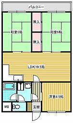 エトワール御崎[306号室]の間取り