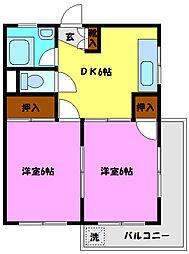 みのるマンション[401号室]の間取り