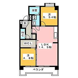ラフォーレ井ノ口[4階]の間取り