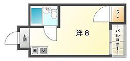 ロータリーマンション西三荘[1階]の間取り