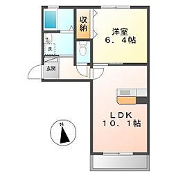 シャーメゾンNSG福山 B棟[2階]の間取り