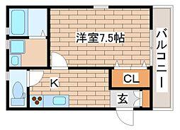 兵庫県神戸市須磨区須磨本町2丁目の賃貸アパートの間取り