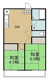 高田ハイツ[1階]の間取り