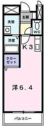 JR予讃線 讃岐塩屋駅 徒歩7分の賃貸アパート 2階1Kの間取り