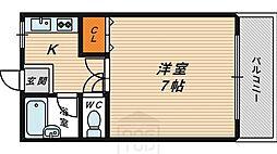 リバティハウス[312号室]の間取り