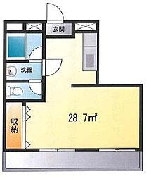 シリウス新松戸[3階]の間取り