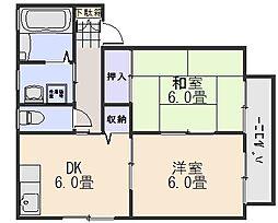 メゾン・ド・エスプリ A棟[2階]の間取り