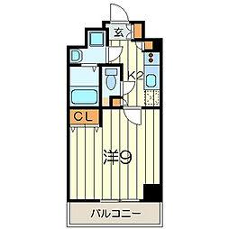 神奈川県横浜市中区蓬莱町3丁目の賃貸マンションの間取り