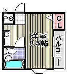 ラヴィータ岸和田[202号室]の間取り