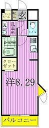 千葉県松戸市常盤平4丁目の賃貸アパートの間取り