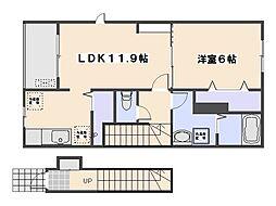 プレストーラII[2階]の間取り