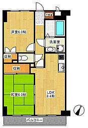 YMDIIIマンション[2階]の間取り