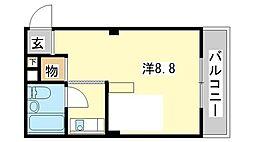 兵庫県姫路市増位本町2丁目の賃貸マンションの間取り