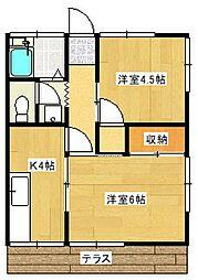 松坂コープ[1階]の間取り