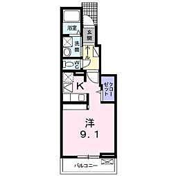 JR東北本線 郡山駅 バス25分 島西下車 徒歩2分の賃貸アパート 1階1Kの間取り