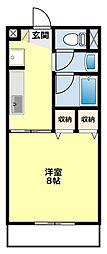 愛知県豊田市大林町5丁目の賃貸アパートの間取り