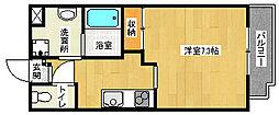 京都府京都市伏見区両替町の賃貸マンションの間取り