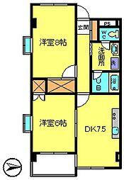 第5カネ長ビル[2階]の間取り