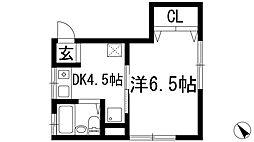 ソファレ池田[1階]の間取り