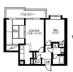 タウンハウス日吉[210号室号室]の間取り