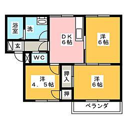 エステートA[2階]の間取り