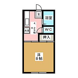 シティアクティブ[1階]の間取り