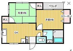 神奈川県川崎市川崎区川中島2丁目の賃貸アパートの間取り
