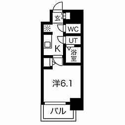 名古屋市営東山線 今池駅 徒歩6分の賃貸マンション 11階1Kの間取り