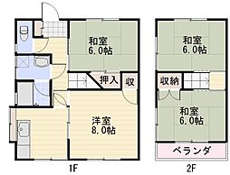 [タウンハウス] 長野県長野市大字南長池 の賃貸【/】の間取り