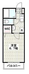 Wing湘南 1階1Kの間取り