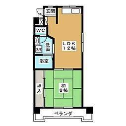 丸の内カジウラマンション[9階]の間取り