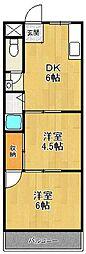 メゾンナカムラ[401号室]の間取り