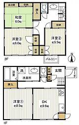 [一戸建] 千葉県船橋市金杉8丁目 の賃貸【/】の間取り