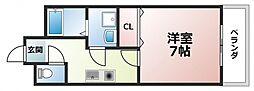 スパジオビィータ[2階]の間取り