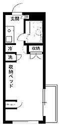 東京都葛飾区東新小岩6丁目の賃貸マンションの間取り