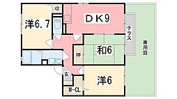 リバーイーストK[A201号室]の間取り