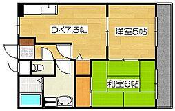 クレインズマンション[4階]の間取り