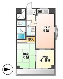 ハウスアベニュー[4階]の間取り