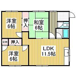 日吉荘A[2階]の間取り