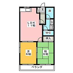 レジデンス妙興寺A棟[2階]の間取り